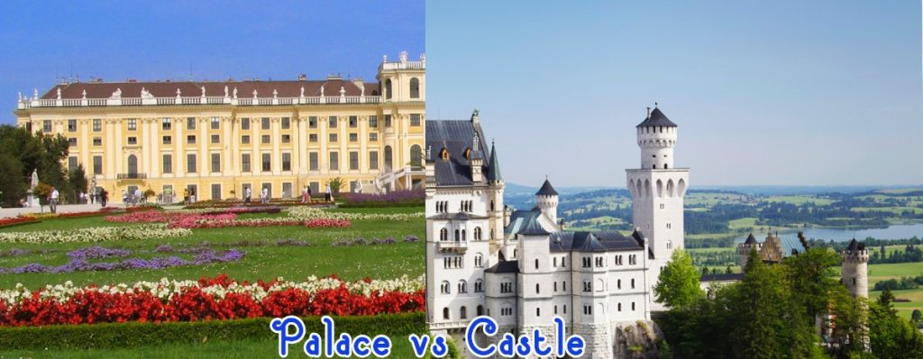 palace vs castle