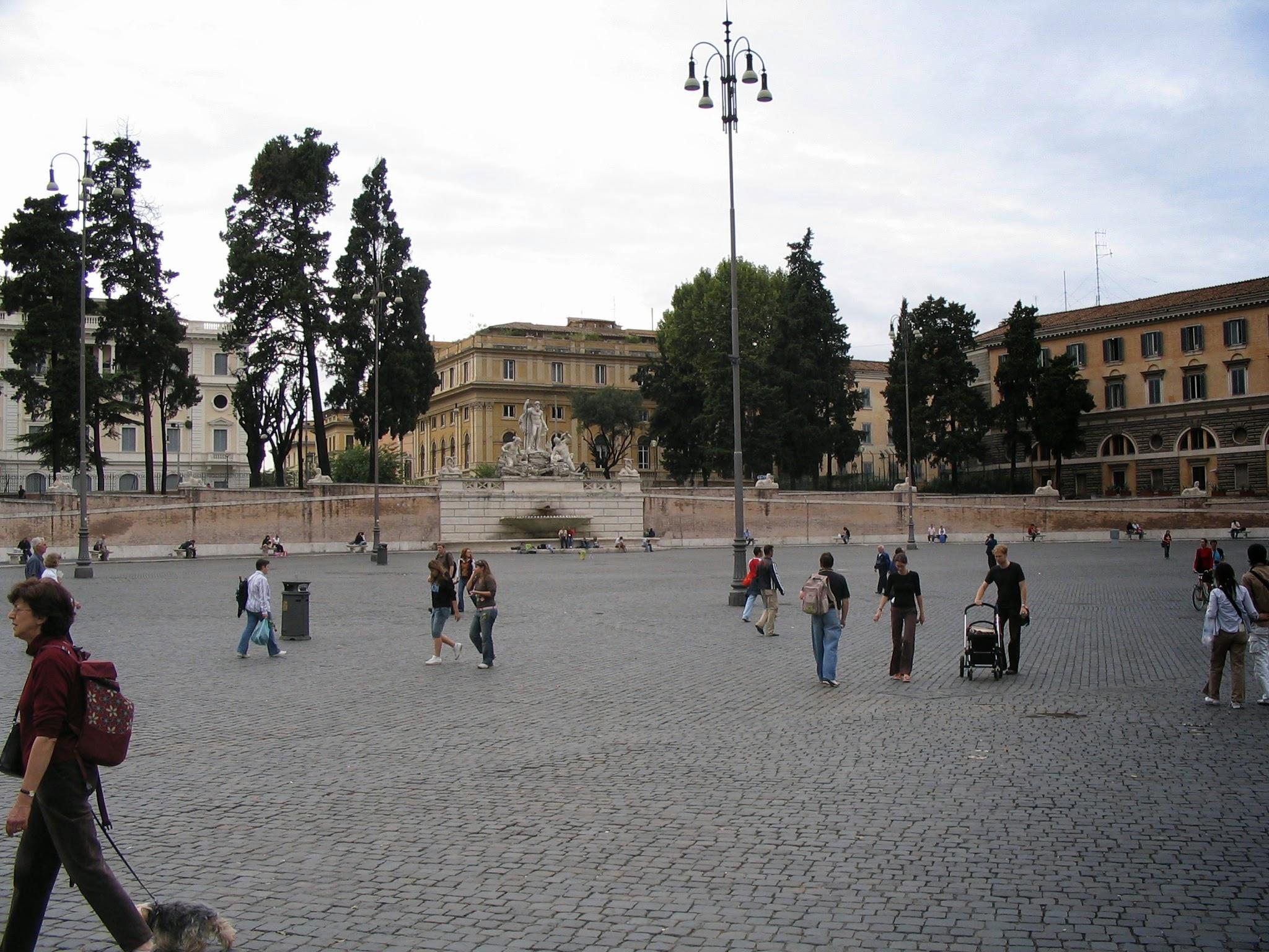 Piazza del Popolo Churches and Obelisk 2