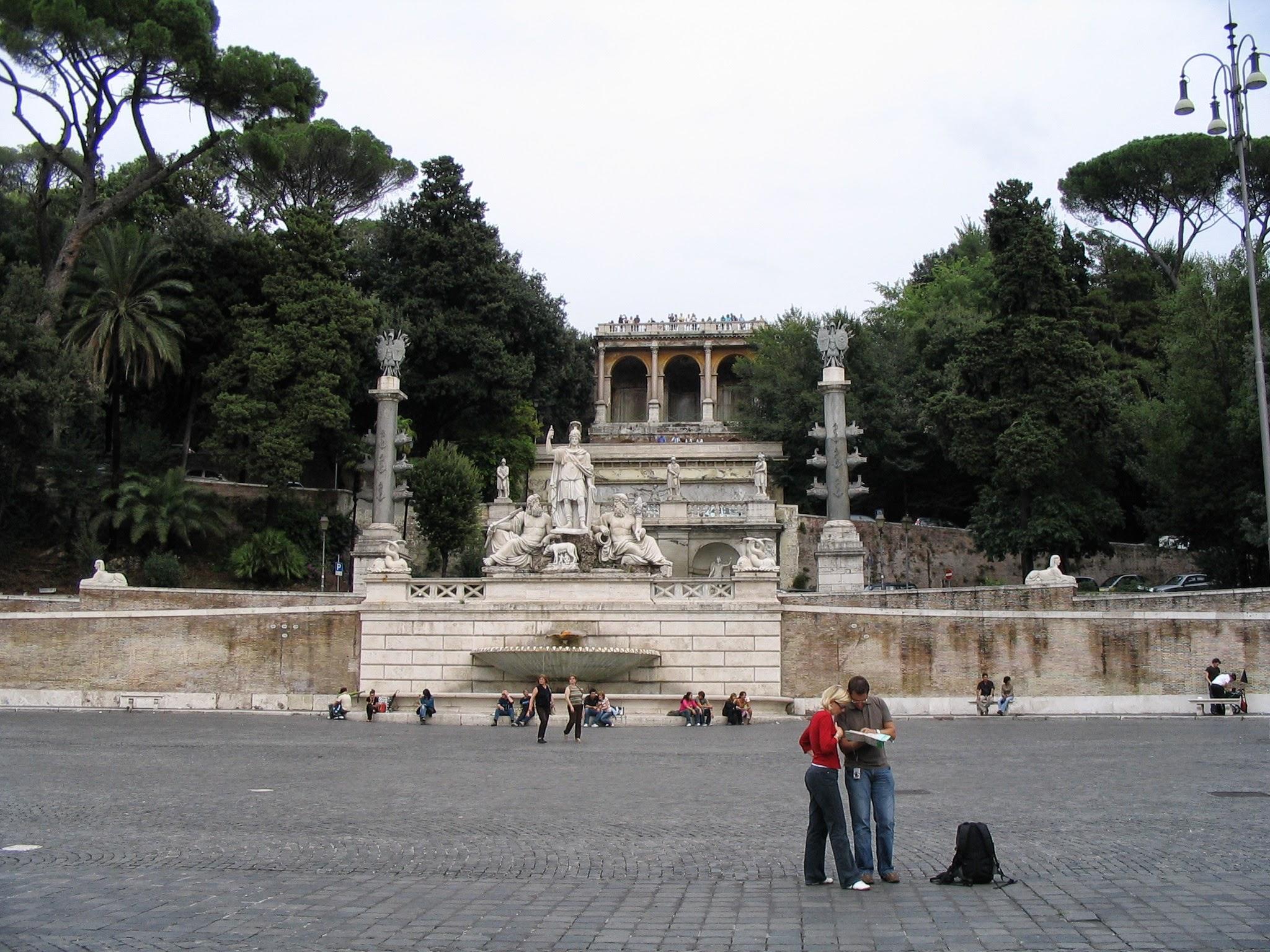 Piazza del Popolo Churches and Obelisk 10