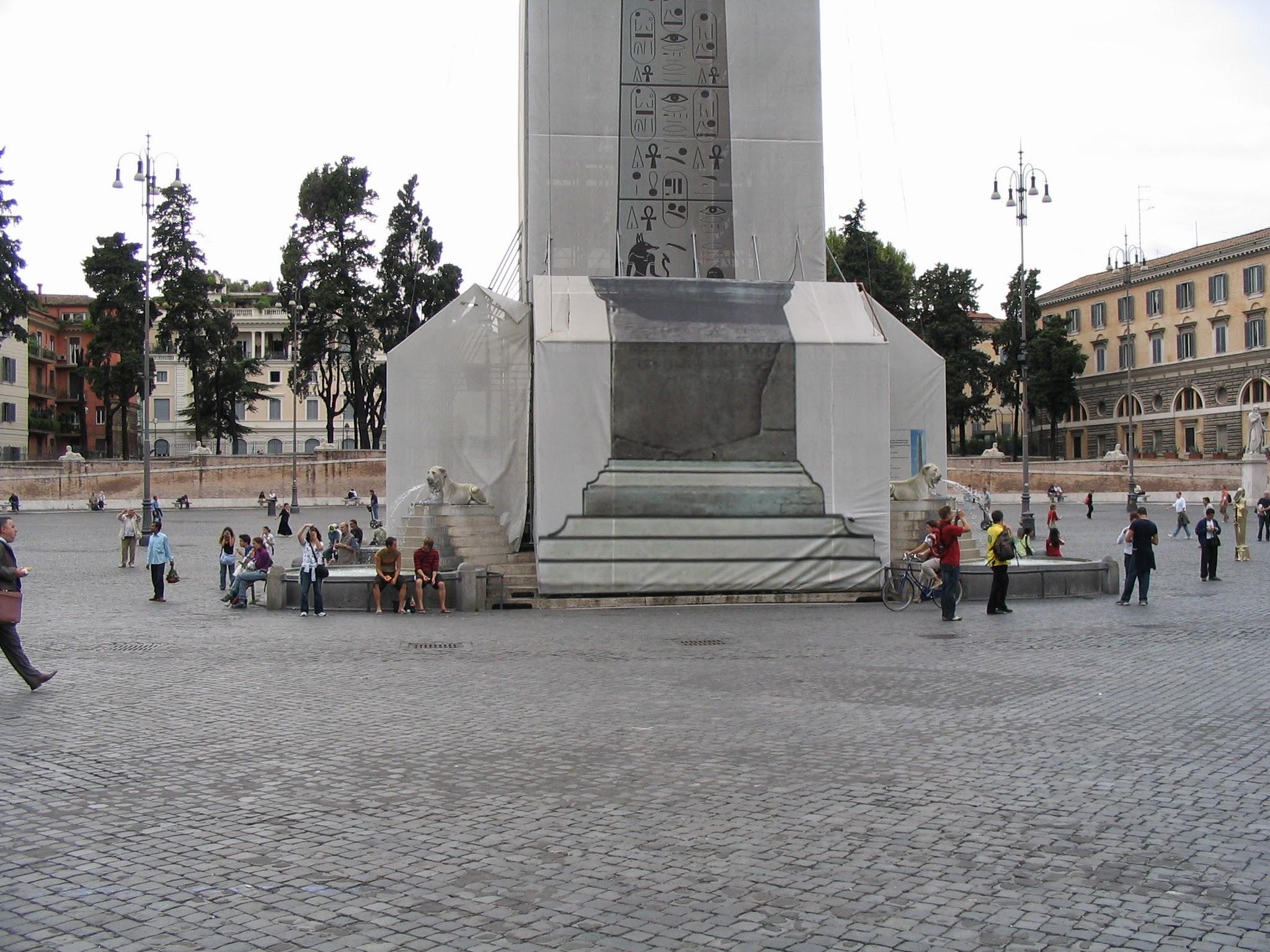 Piazza del Popolo Churches and Obelisk 7