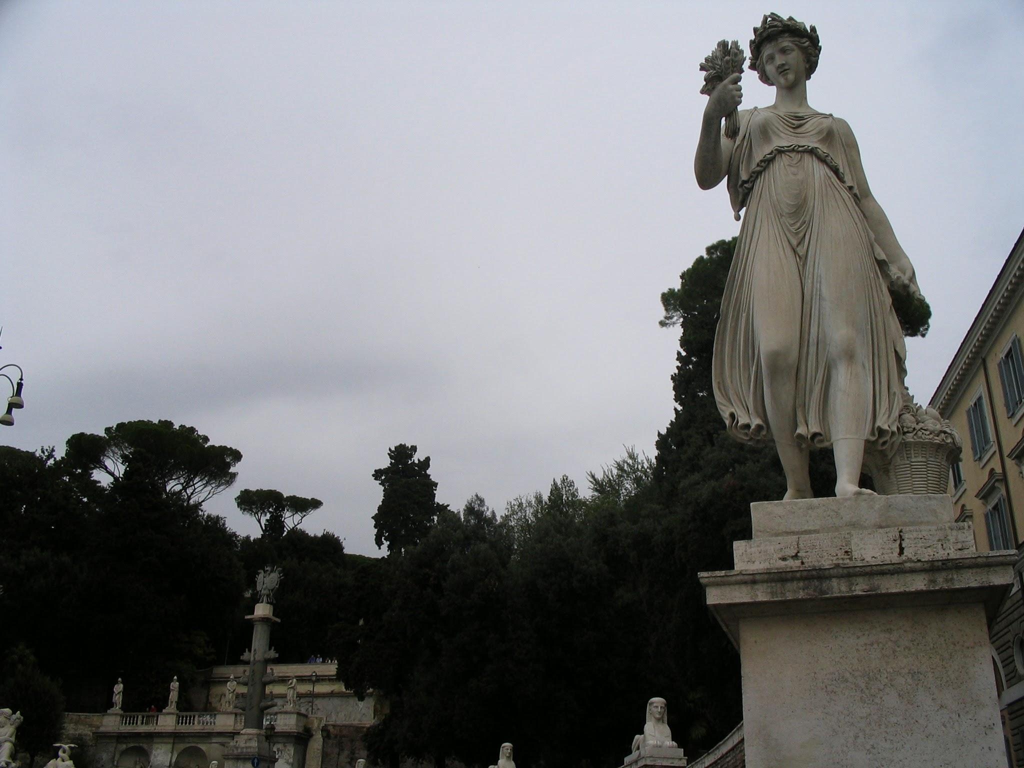 Piazza del Popolo Churches and Obelisk 8