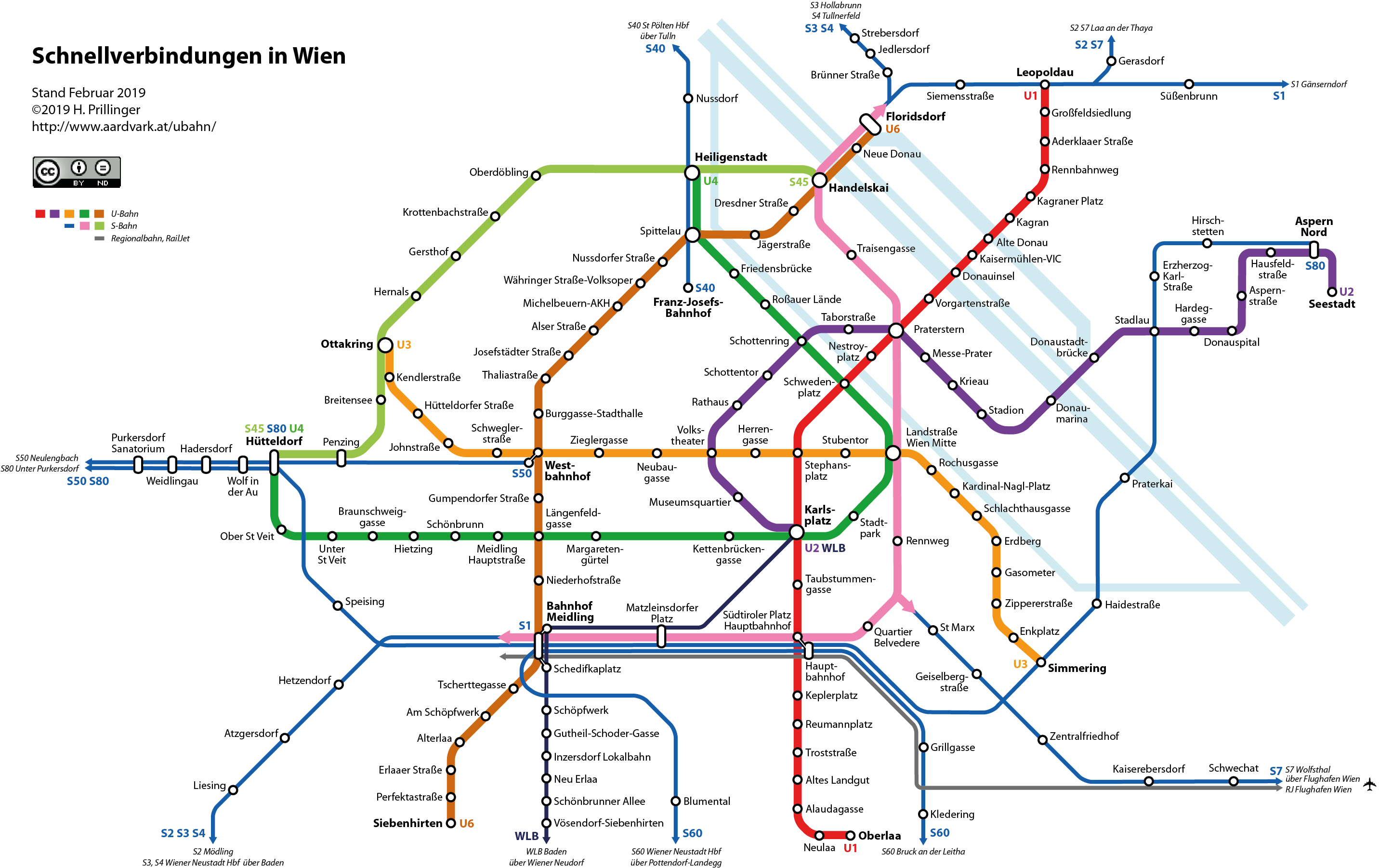 Vienna Metro Map 6